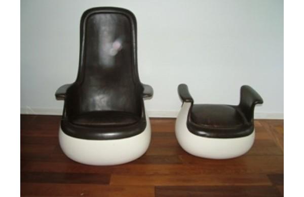 Marc Held fauteuil à bascule modèle Culbuto