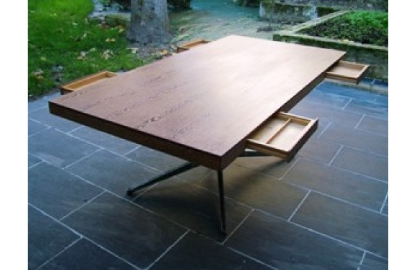 Table bureau florence knoll for Meuble bureau knoll